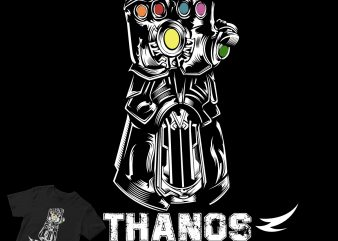 thanos hand shirt design png graphic t-shirt design