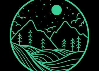 the mountain tshirt design