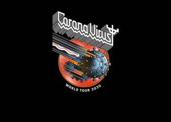 corona virus world tour 2020 shirt design png