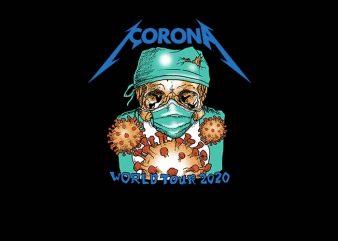 corona world tour 2020 design for t shirt