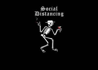 social distancing graphic t-shirt design