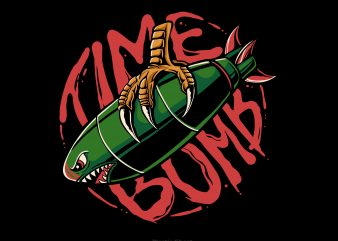Time bomb t shirt design for download