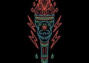skull torch tshirt design