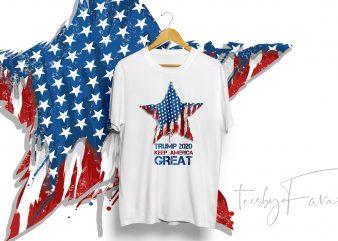 Trump 2020 Keep America Great t-shirt design to buy