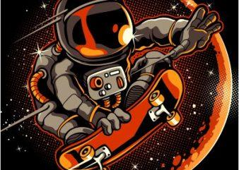 Astronaut 2 t-shirt design png