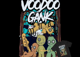 voodoo gank t shirt design for purchase