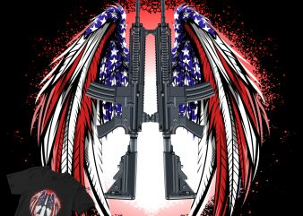 wings american abstract shirt design png