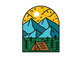 Camp t-shirt design for sale