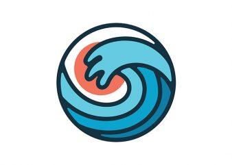 Wave graphic t-shirt design