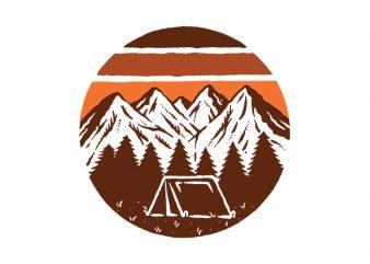 Beauty Mountain t shirt design template