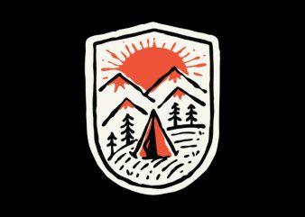 Sunset Camp t shirt design to buy