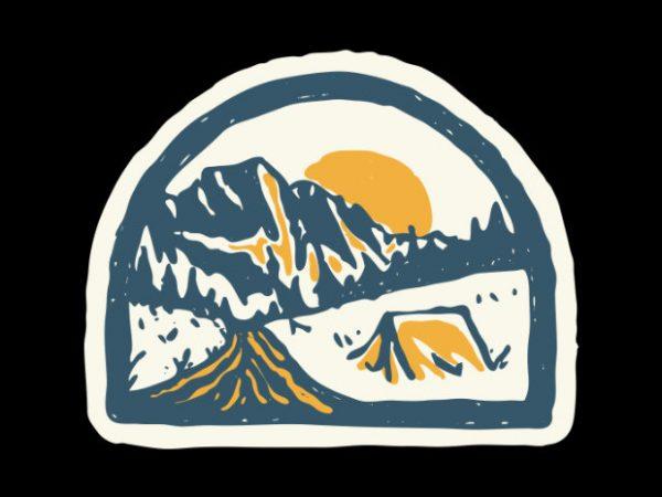 Camping Hand Drawn t shirt design to buy