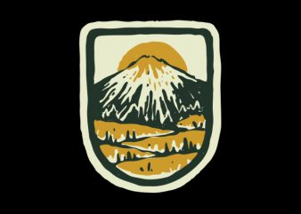 Mountain Hand Drawn t shirt design template