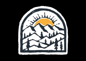 Beauty Mountain t shirt design for sale
