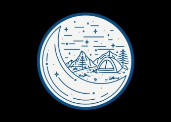 Night Camping graphic t-shirt design