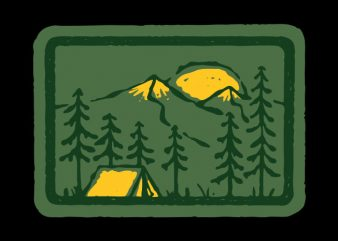 Camping t-shirt design for sale