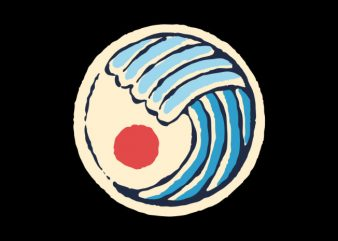 The Great Wave graphic t-shirt design