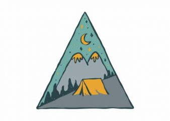 Camp Triangle shirt design png