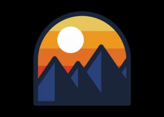 Beauty Sunset Mountain buy t shirt design for commercial use
