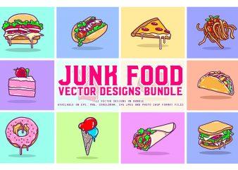 Junk Food Vector Designs Bundle