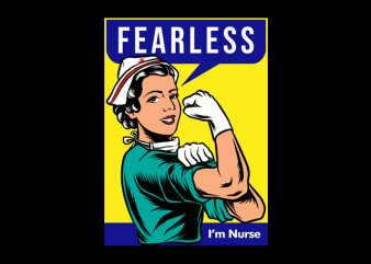 Fearless Nurse design for t shirt t-shirt design for commercial use