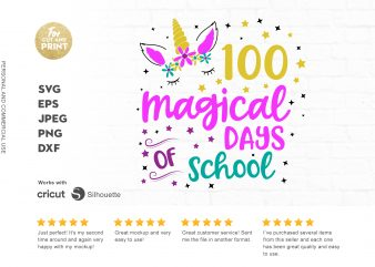 100 magical days of school t shirt design to buy