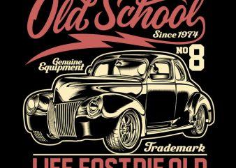 GASOLINE OLD SCHOOL t shirt design for download