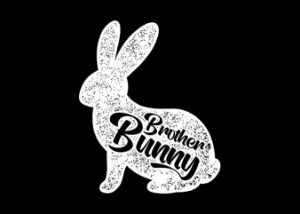 Brother Bunny Happy Easter t-shirt design for sale