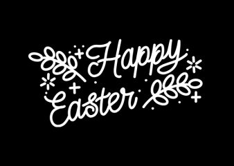 Happy Easter Typography Handwriting t-shirt design png