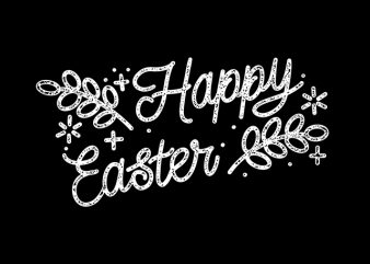 happy easter Typography handwriting ready made tshirt design
