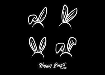 Happy Easter Bunny commercial use t-shirt design