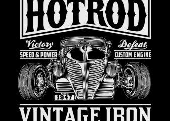 HOTROD VINTAGE IRON ready made tshirt design