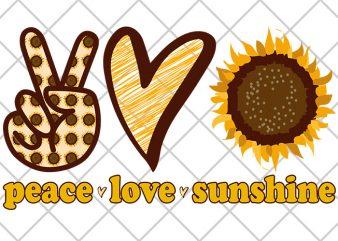 Peace, Love, sunshine print ready t shirt design