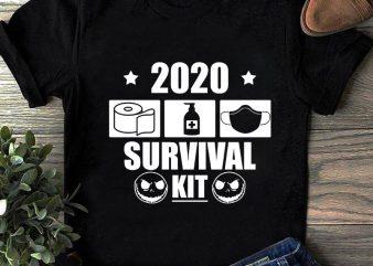 2020 Survival Kit, Coronavirus, Covid19 SVG buy t shirt design artwork