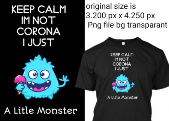 Corona virus covid 19 tshirt monster png transparant t shirt design for sale