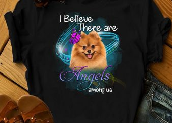 1 DESIGN 30 VERSIONS – DOGS – There are angels among us – t-shirt design png