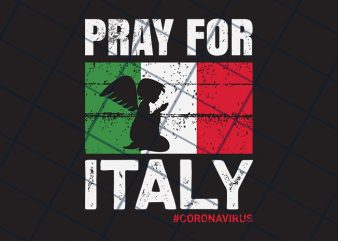 Pray for Italy t-shirt design for commercial use