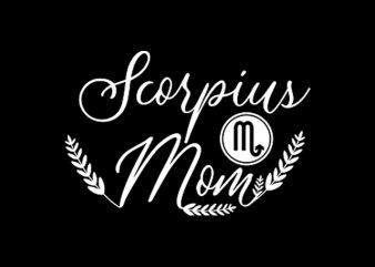 Scorpius Mom graphic t-shirt design