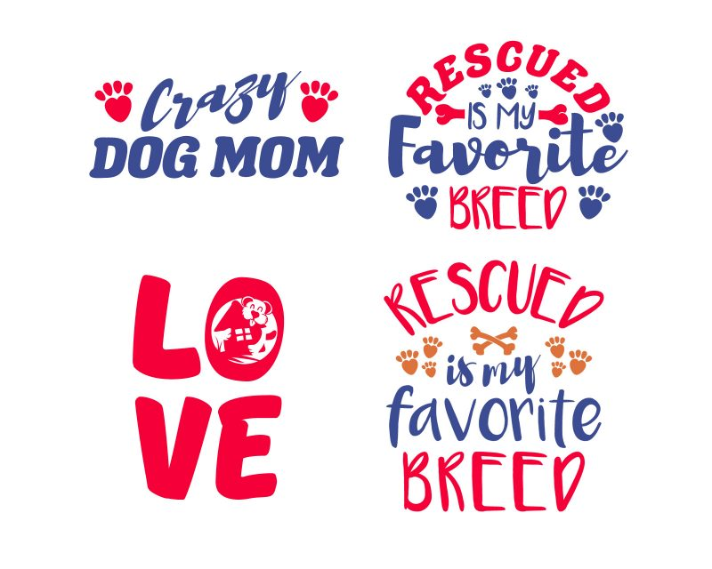 25 Dog Mom Designs Bundle t-shirt designs for sale