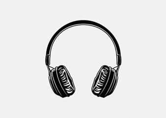 music headphone commercial use t-shirt design