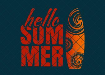 Hello summer, summer/beach tshirt design