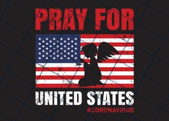 Pray for United States t-shirt design for commercial use