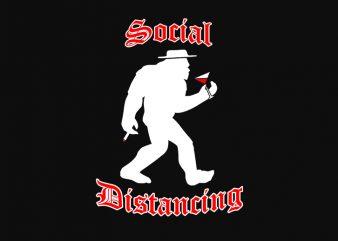 Social distancing punk rock – funny t-shirt design – commercial use