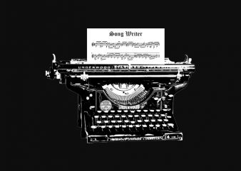 music song writer vintage t shirt design for purchase