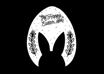 Happy Easter Bunny Rabbit Retro Handrawn Artwork buy t shirt design