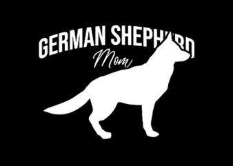 German Shepherd ready made tshirt design
