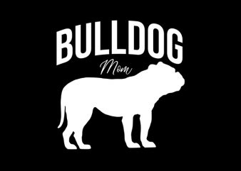 Bulldog Mom graphic t-shirt design