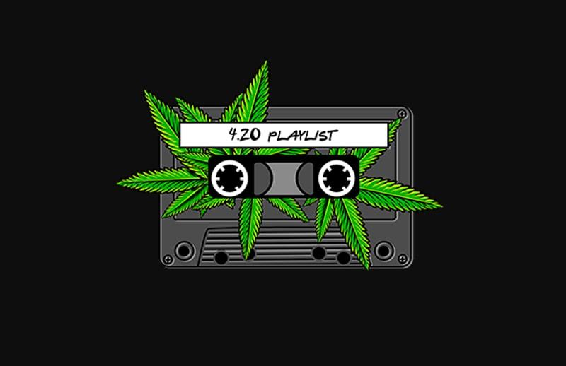 420 marijuana cannabis ganja playlist t shirt design for download