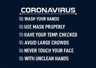 Corona virus awareness t shirt design to buy