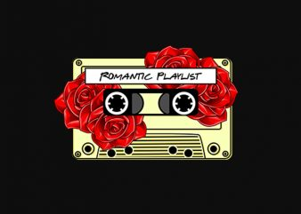 romantic playlist t shirt design for download